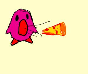 Kirby eating pizza (Poyo)