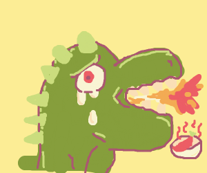 Chili be too hot for dinosaur boi >:0