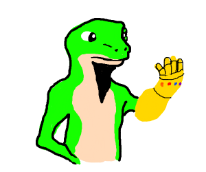 GEICO gecko gets the infinity gauntlet