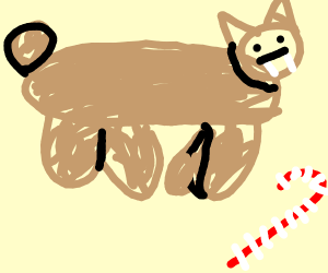 Saber-toothed Cat collecting a Candy Cane