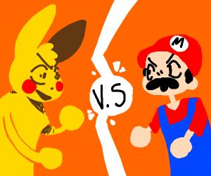 Pikachu vs mario