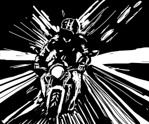 dude riding motorcycle