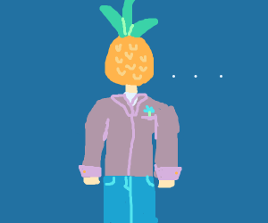 Pineapple head man