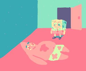 Spongebob finds a body