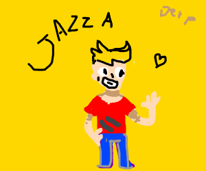 Jazza (I Think) In A Yellow Background