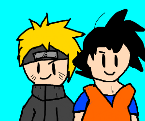 Naruto and Goku