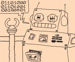 robot says hi