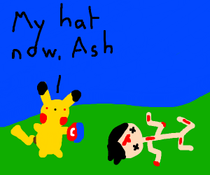 Pikachu murders ash and steals his hat