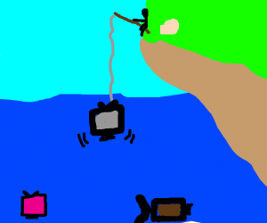 Fishing for a TV