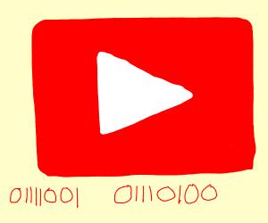 Youtube Logo in binary