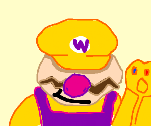 Wario with the infinity gauntlet