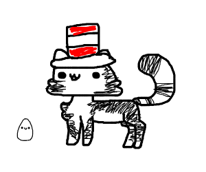 The Cat in the Hat as a Real Cat ((((eggs))))