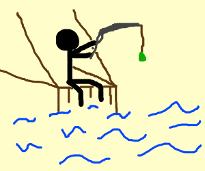 Guy fishing