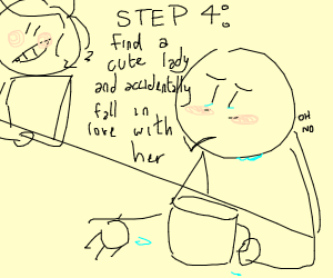 step 3: go to a bar to cry