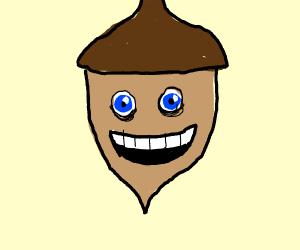 smiling acorn