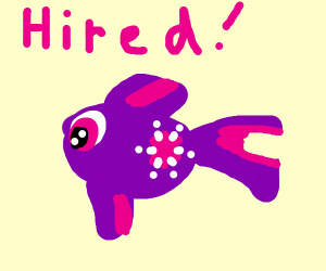 sparkle fish gets hired