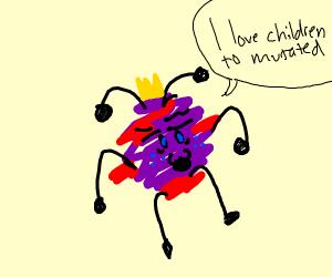 weird thing says i love children to mutated