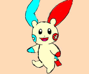 Minun and plusle fused into one