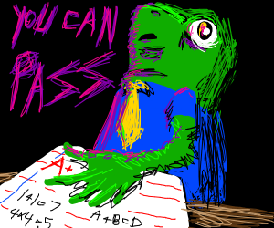 Frog says to an A+ Test U can Pass