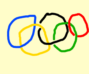 olympics logo too much