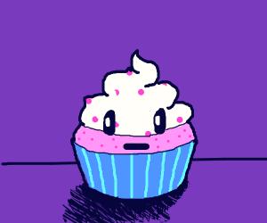 Emotionless cupcake