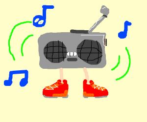 Radio wearing Shoes