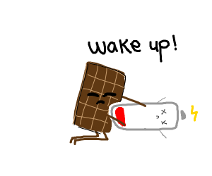 Chocolate is trying to wake up dead battery