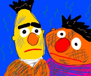 bert and ernie are stinky