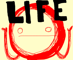 Red man shows you the meaning of life