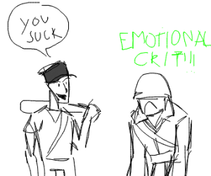 Scout hurts Soldier's feelings
