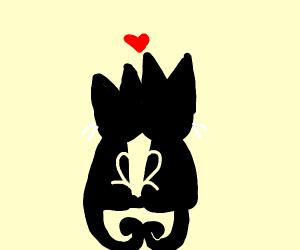 Cat love (Happy Valentine's Day!)