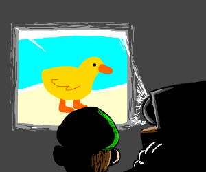 luigi is projecting an image on the wall