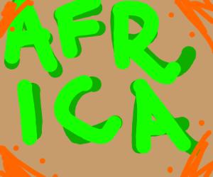 Africa written in green