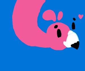 happy flamingo