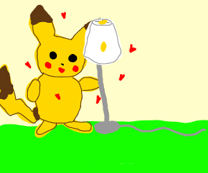 picachu's girlfrend is a lamp