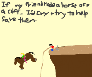 If ur friend rode horse off a cliff..would U?
