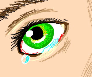 Pardon, there's something green in your eyes.