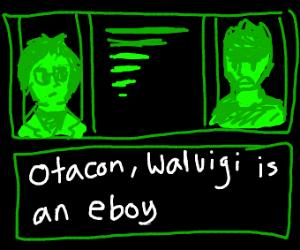someone tellin otacon that waluigi is an eboy