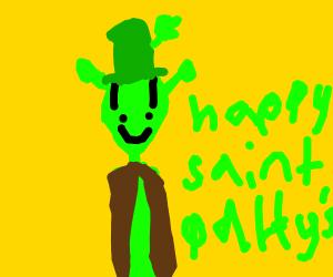 Shrek's skinny cousin celebrates St. Patricks