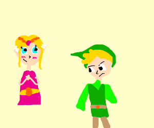 Link tired of saving Zelda
