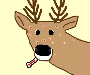 a deer has chickenpox