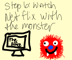 Step 5: Hug the monster, it was crying too