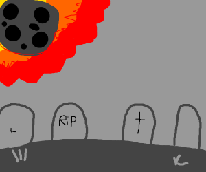 meteor hits graves
