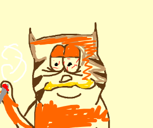 Funky Crippled Garfield