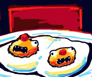 yellmo eggs getting microwaved