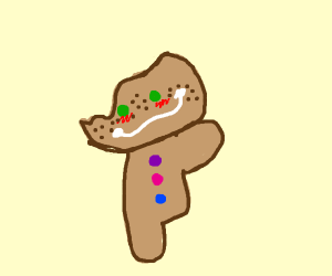 deformed gingerbread man