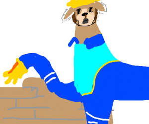 Llama Construction Worker
