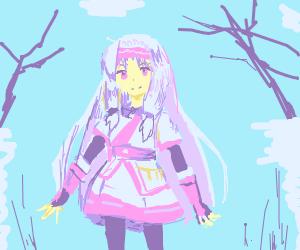 Winter anime girl