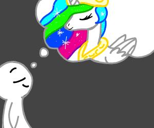 Dreaming of Rainbow Alicorns