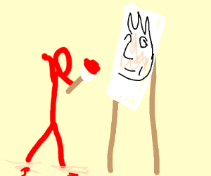 skinwalker drawing a picture
